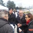 Protesta anti-inquinamento e ogm ad Ospedaletto Euganeo davanti alla Veronesi
