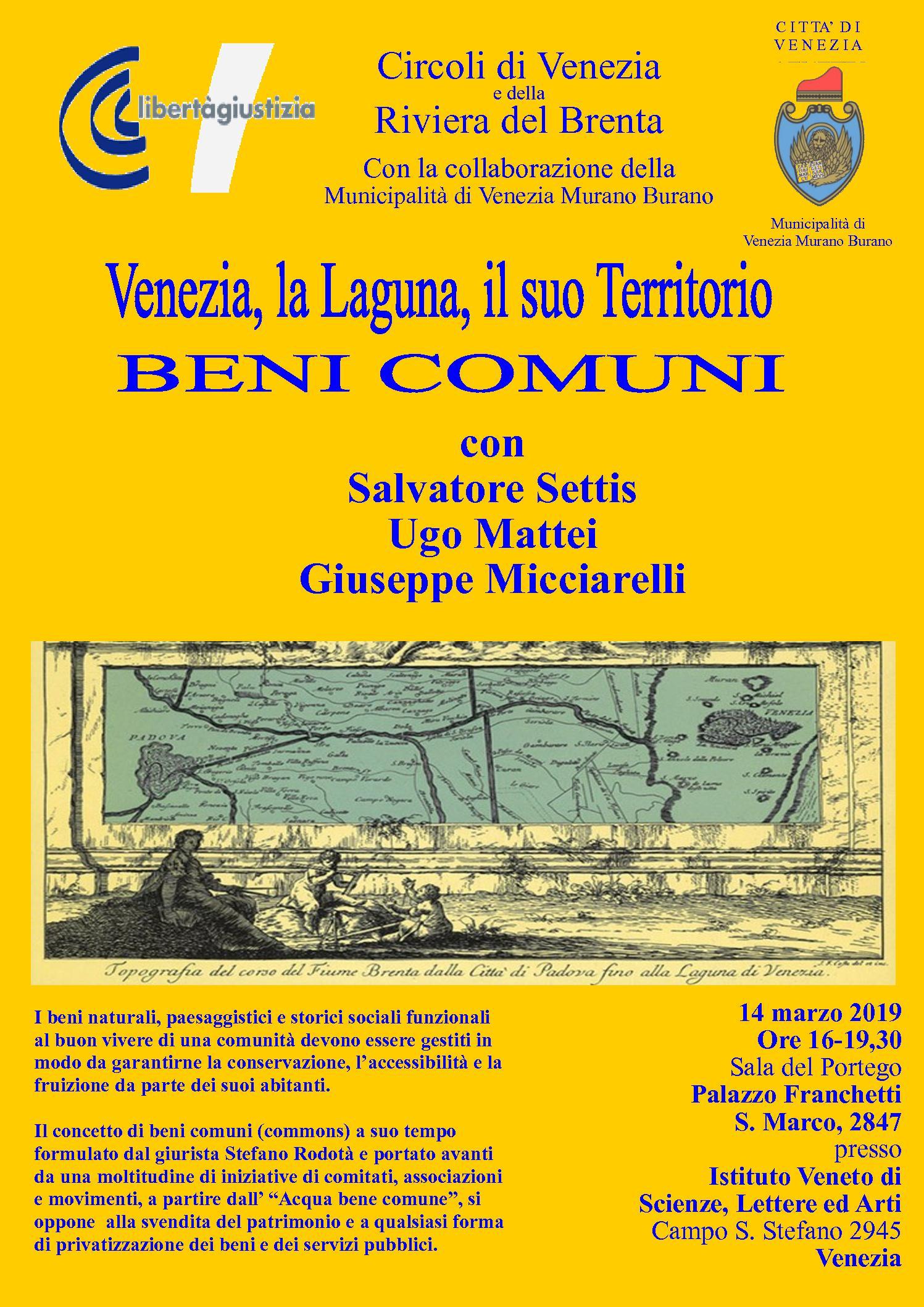 c878a7c89e Giovedì 14 marzo. Venezia e la sua laguna come bene comune. Incontro ...